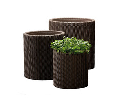 Rattan Flower Garden Patio Wicker Outdoor Planter