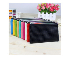 Womens Fashion Wristlet Wallet Lady Card Coin Cute Wallet Clutch Zipper Purse